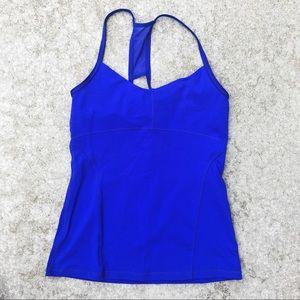 Alo Workout Racerback Royal Blue Top